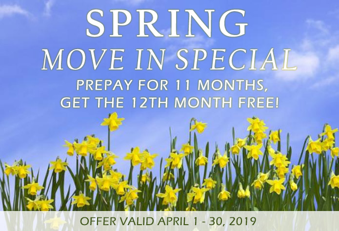 Spring Move In Special for the month of April